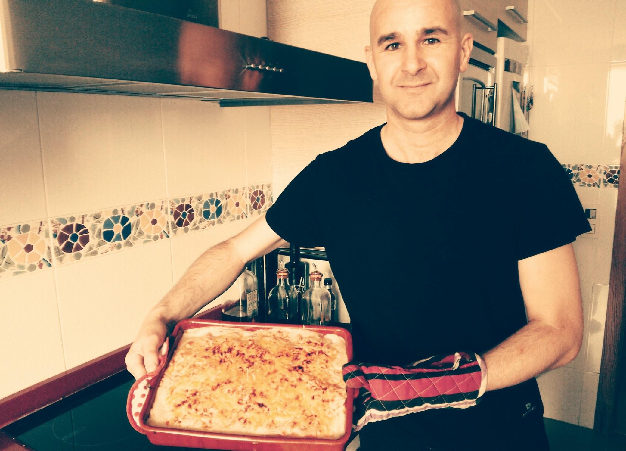 preparando una lasagna