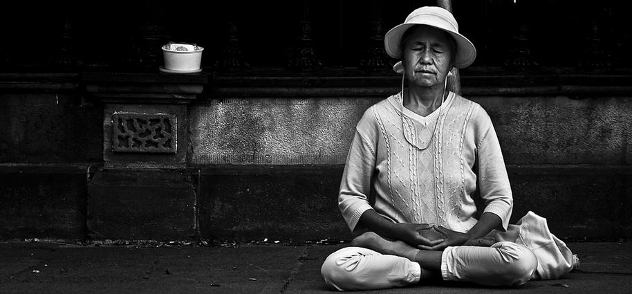 postura de meditacion