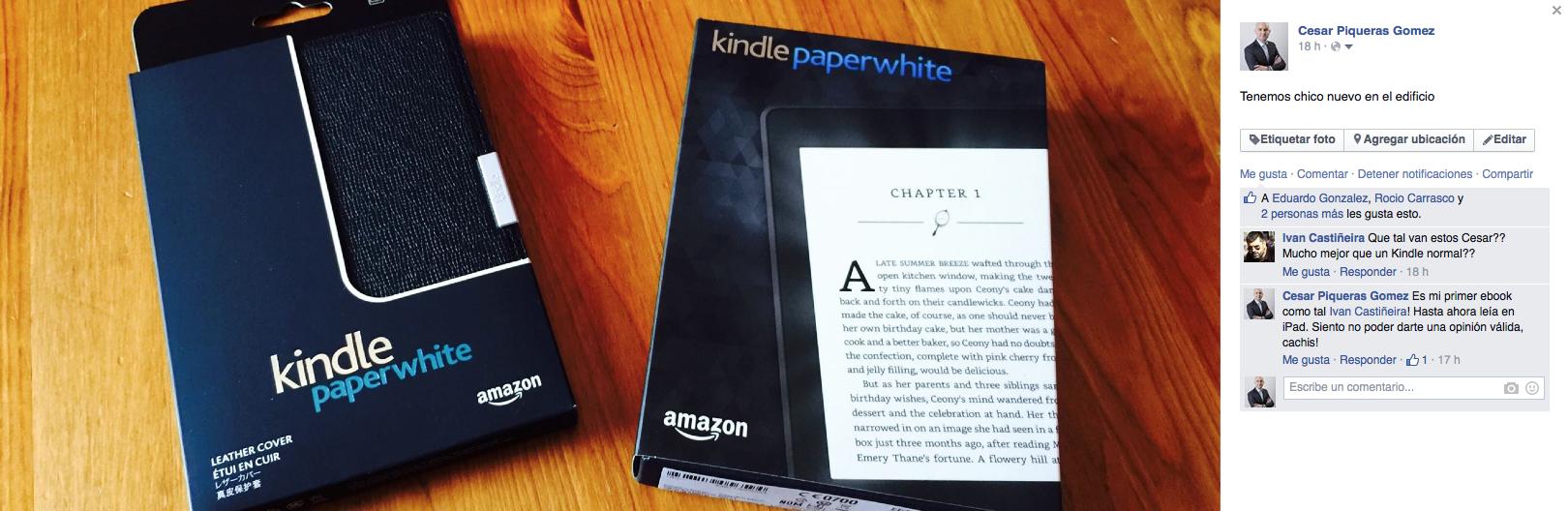 innovacion kindle paperwhite