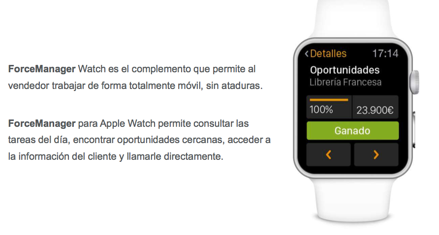 crm apple watch