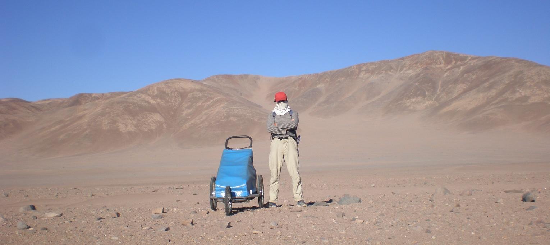 Ignacio Dean en el desierto de Atacama