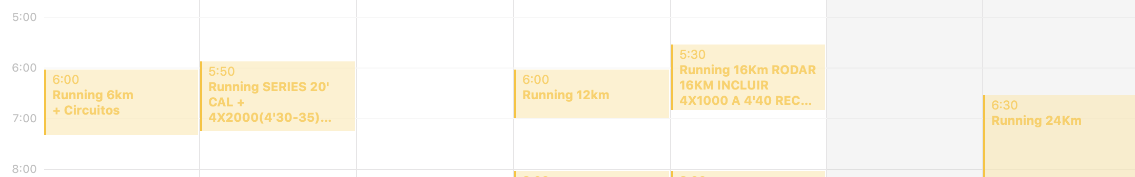 entrenamientos maraton